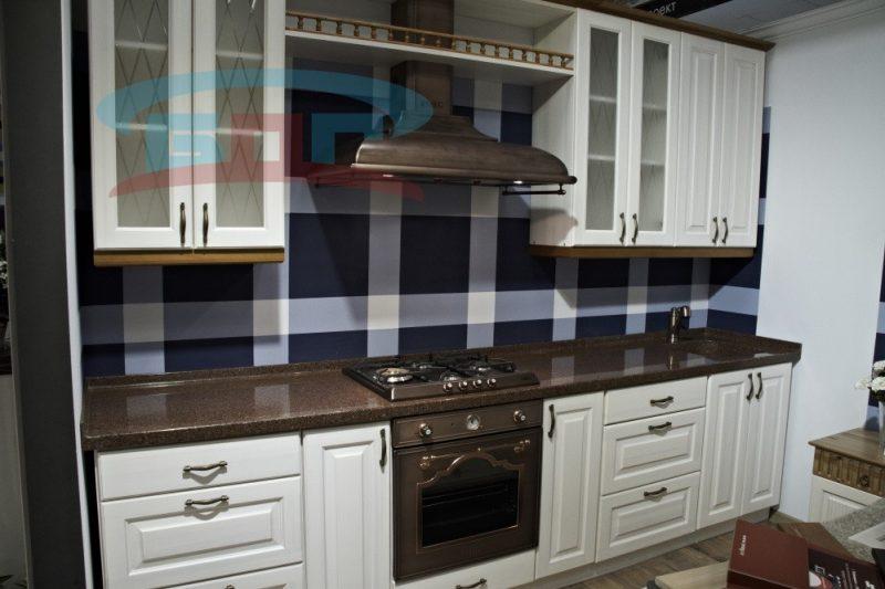 Кухонная раковина со столешницей имитация гранита