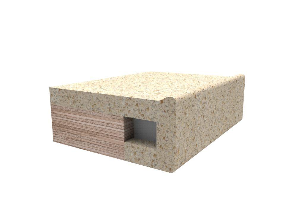Кромка Антиперелив для изделий из искусственного камня