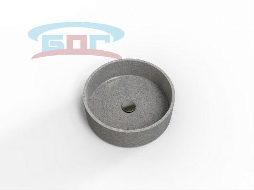 Раковина UС450с-R Умывальник овальный Диаметр чаши: 400х650 мм. Глубина чаши: 125 мм.