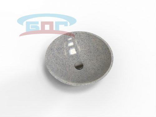 Раковина UDK500-Умывальник круглый Диаметр чаши: 409 мм. Глубина чаши: 130 мм. Минимальная ширина мебельного модуля: 450 мм.