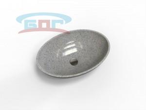 Раковина UDO600L-R Умывальник овальный Диаметр чаши: 350х560 мм. Глубина чаши: 130 мм. Минимальная ширина мебельного модуля: 600 мм.