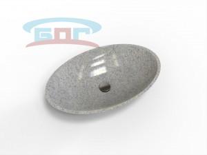 Раковина UDO700-R Умывальник овальный Диаметр чаши: 400х650 мм. Глубина чаши: 125 мм.