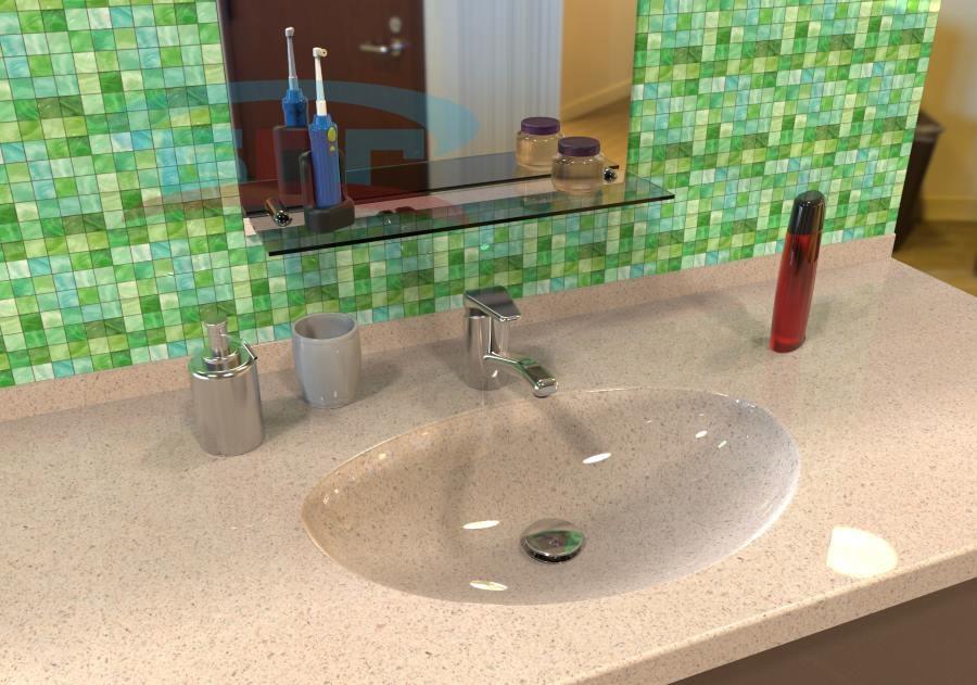 Каменная раковина в ванну