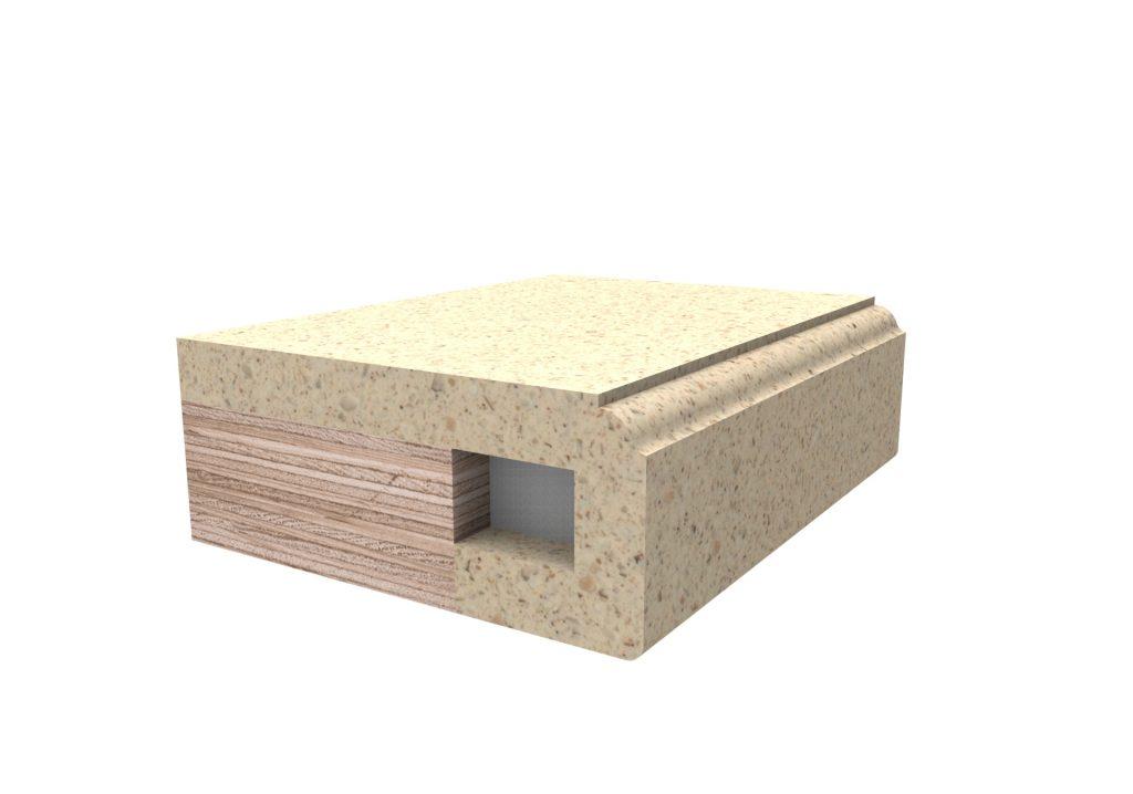 Кромка фасонная2 для изделий из искусственного камня