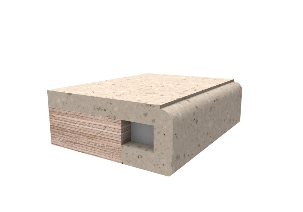 Кромка фасонная №3 для изделий из искусственного камня