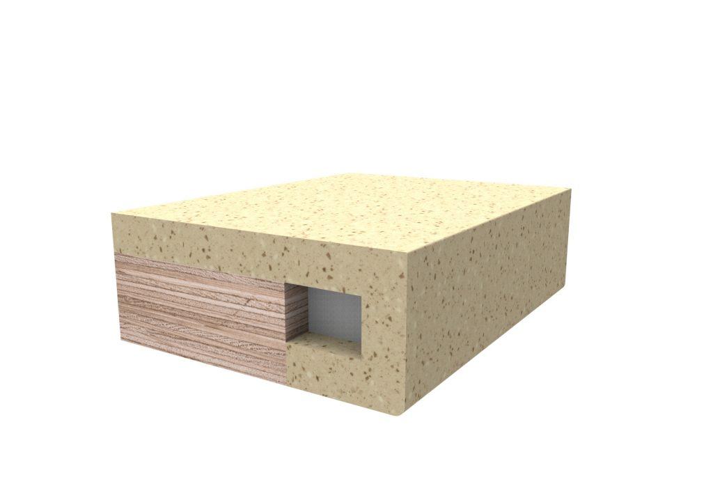 Кромка прямоугольная для изделий из искусственного камня