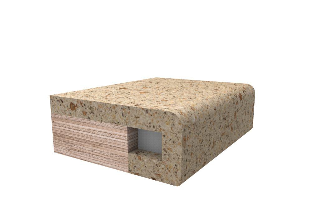 Кромка скругленная №1 для изделий из искусственного камня
