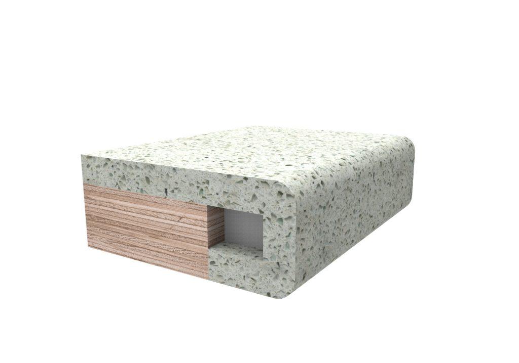 Кромка скругленная №2 для изделий из искусственного камня