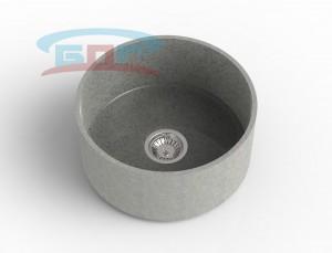Мойка круглая из искусственного камня с артикулом С-450с Размеры чаши: d-450мм Глубина чаши: 205мм Сливное отверстие по центру