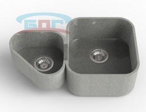 Мойка+фруктовница из искусственного камня с артикулом FRA+R Размеры чаши: выбирается из общего каталога Глубина чаши: 205мм Сливное отверстие по центру