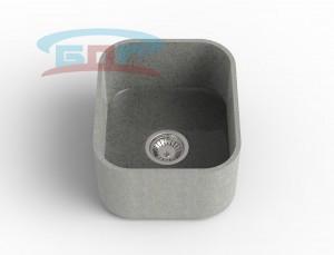 Мойка из искусственного камня с артикулом R-400k Размеры чаши: 425×350мм Глубина чаши: 205мм Сливное отверстие по центру