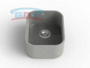 Мойка из искусственного камня с артикулом R-400k Размеры чаши: 425×350мм Глубина чаши: 205мм Сливное отверстие с краю