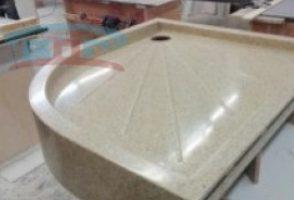 Изготовление душевых поддонов из искусственного камня