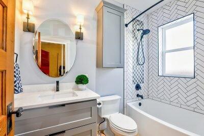 Столешница с тумбой в ванную