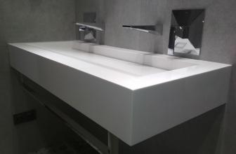 Столешница раковина для ванной из искусственного камня