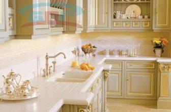 Кухонная столешница с фигурной кромкой